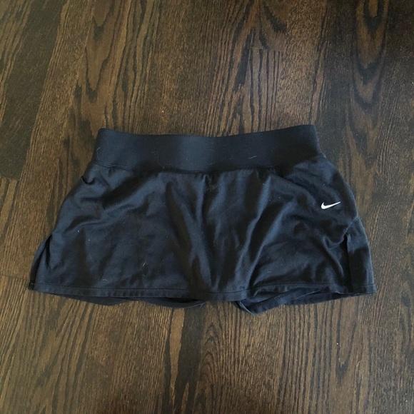 Nike Skort Medium Dri Fit Black Skirt Shorts